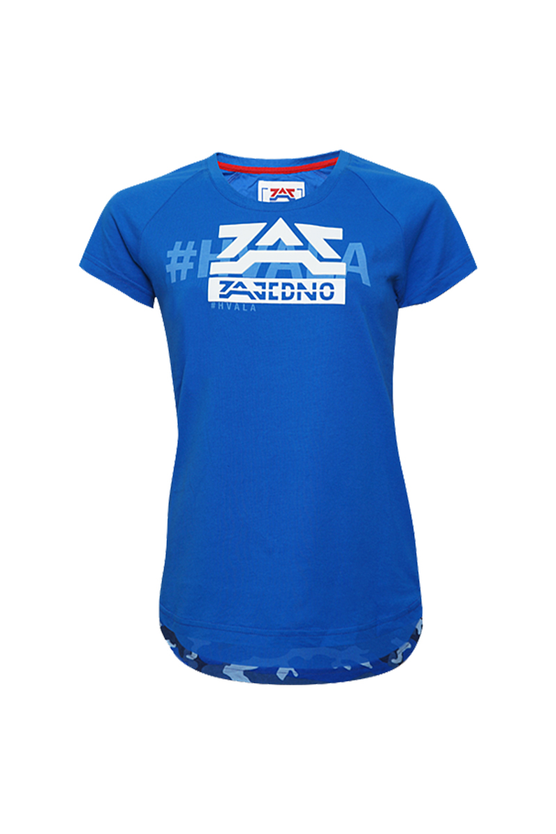 T-Shirt Blue 'Camo' Women