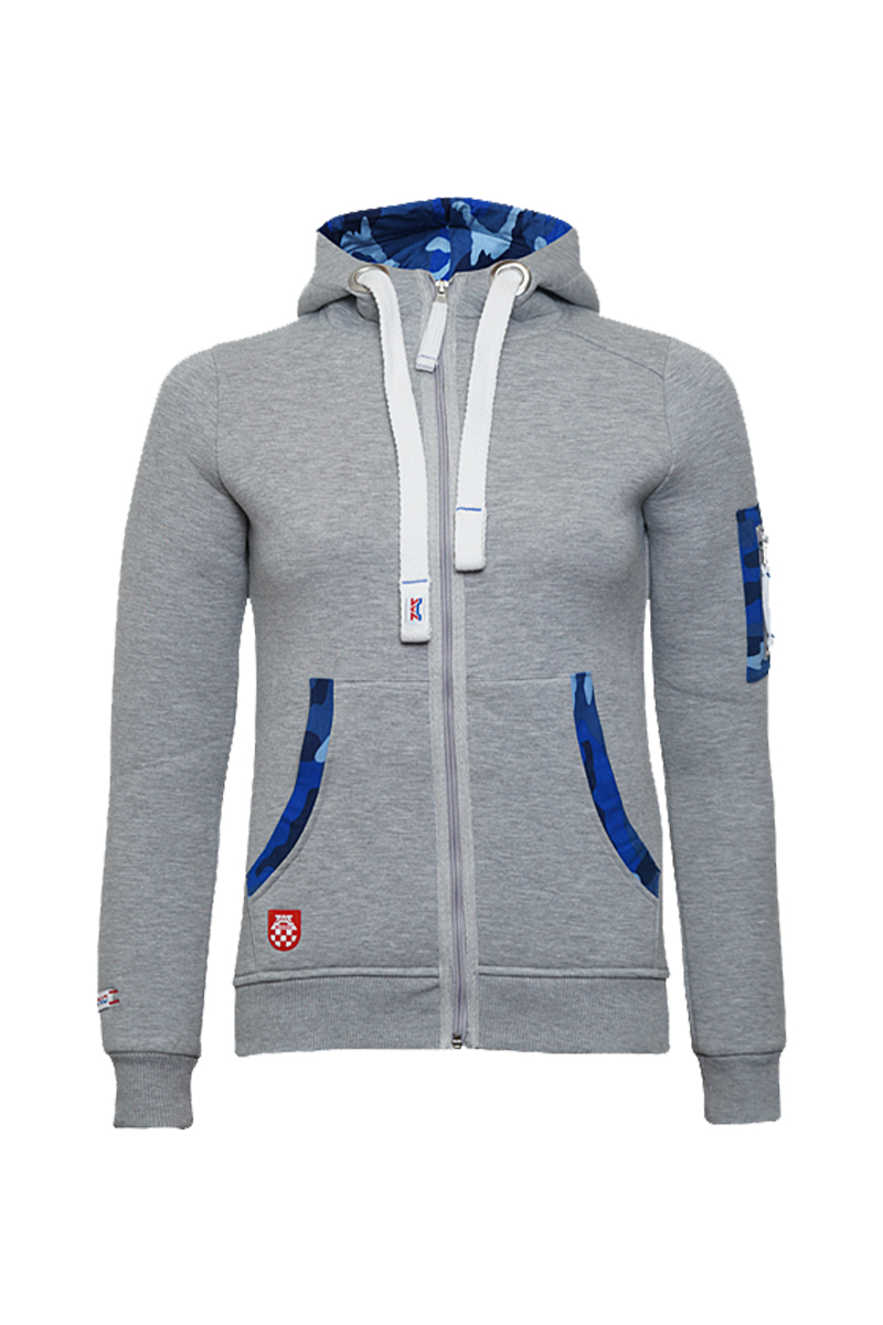 'Zip Hoody' Grey Women